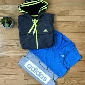 Adidas Sweatshirt & Tank Bundle 3pc Fitness Set M